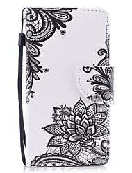 cheap -Case For Huawei P8 Lite (2017) / Huawei P8 Lite Wallet / Card Holder / Flip Full Body Cases Flower Hard PU Leather