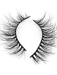 cheap -Eyelash Extensions False Eyelashes 2 pcs Volumized Curly Extra Long Animal wool eyelash Event / Party Daily Wear Thick - Makeup Daily Makeup Halloween Makeup Party Makeup Trendy High Quality Cosmetic