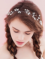 cheap -Women's Headbands For Party Ceremony Criss Cross Crystal Fabric Alloy White