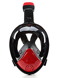 cheap -Diving Mask Full Face Mask Single Window - Swimming Silicone - For Adults Black / 180 Degree View / Leak-Proof / Anti Fog