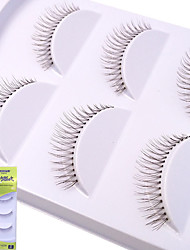 cheap -Eyelash Extensions False Eyelashes 6 pcs Thickening Volumized Natural Curly Fiber Event / Party Daily Wear Thick - Makeup Daily Makeup Halloween Makeup Party Makeup High Quality Fashion Cosmetic