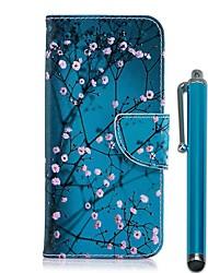 Недорогие -Кейс для Назначение Nokia Nokia 8 / Nokia 6 2018 / Nokia 5.1 Кошелек / Бумажник для карт / со стендом Чехол Цветы Твердый Кожа PU
