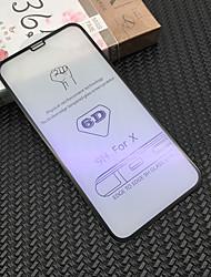 Недорогие -AppleScreen ProtectoriPhone X Уровень защиты 9H Защитная пленка для экрана 1 ед. Закаленное стекло