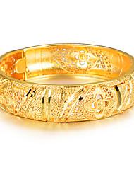 Недорогие -Жен. Браслет цельное кольцо Браслет разомкнутое кольцо Скульптура Дамы Этнический Итальянский Позолота Браслет Ювелирные изделия Золотой Назначение Для вечеринок Подарок