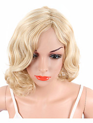 cheap -Synthetic Wig Curly Bob Pixie Cut Short Bob Wig Blonde Short Blonde Synthetic Hair Women's Adjustable Heat Resistant Classic Blonde