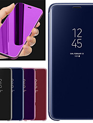 cheap -Case For Samsung Galaxy A6+ (2018) with Stand / Mirror Full Body Cases Solid Colored Hard PU Leather