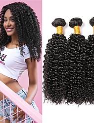 Недорогие -3 Связки Индийские волосы Кудрявый Натуральные волосы 150 g Человека ткет Волосы Удлинитель 8-28 дюймовый Нейтральный Ткет человеческих волос Лучшее качество Горячая распродажа 100% девственница / 8A