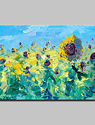 cheap -Mintura® Hand Painted Abstract Sunflower Oil Painting on Canvas Modern Abstract Flower Wall Art Picture for Home Decoration Ready To Hang