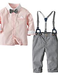 cheap -Baby Boys' Basic Solid Colored Long Sleeve Regular Regular Clothing Set Blushing Pink