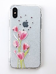 cheap -Case For Apple iPhone X / iPhone 8 Plus / iPhone 8 DIY Back Cover Glitter Shine Soft TPU