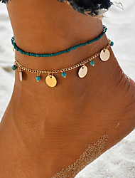 cheap -Women's Ankle Bracelet feet jewelry Classic Beads Ladies Anklet Jewelry Gold / Silver For Gift Daily