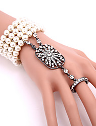 cheap -The Great Gatsby Charleston Roaring 20s 1920s Vintage Women's Costume Ring Bracelet / Slave bracelet Slave Bracelet Golden / White / Black Vintage Cosplay Party Prom
