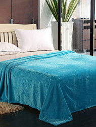 cheap -Bed Blankets, Geometric / Solid Color Cotton Jacquard Thicken Blankets