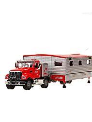 Недорогие -1:50 Игрушечные машинки Транспорт Транспортер грузовик Грузовик Вид на город Cool утонченный Металл Мини-автомобиль Транспортные средства Игрушки для вечеринки или подарок на день рождения для детей