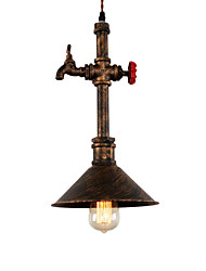 cheap -Vintage Industrial Pipe Pendant Lights Metal Shade Restaurant Cafe Bar Decoration Lighting With 1-Light Painted Finish