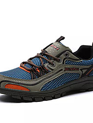 cheap -Men's Comfort Shoes Faux Leather / PU Summer Athletic Shoes Hiking Shoes Color Block Green / Blue