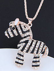 cheap -Women's Pendant Necklace Long Necklace Long Pave Horse Ladies European Fashion Cute Rhinestone Chrome Gold 70 cm Necklace Jewelry 1pc For Causal