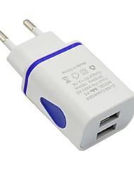 cheap -Portable Charger USB Charger EU Plug Multi-Output 2 USB Ports 2.1 A 100~240 V for