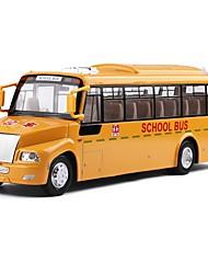Недорогие -1:32 Игрушечные машинки Транспорт Автобус Автобус Вид на город Cool утонченный Металл Мини-автомобиль Транспортные средства Игрушки для вечеринки или подарок на день рождения для детей 1 pcs