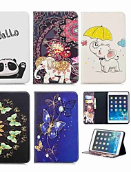 cheap -Case For Apple iPad Mini 5 / iPad New Air(2019) / iPad Mini 3/2/1 Wallet / Card Holder / with Stand Full Body Cases Animal / Elephant Hard PU Leather