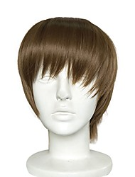 cheap -Cosplay Costume Wig Cosplay Suits Synthetic Wig Straight Layered Haircut Wig Short Ash Brown Synthetic Hair Women's Mini Anime Party Dark Brown / Natural Hairline / Natural Hairline