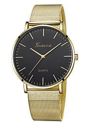 cheap -Geneva Women's Wrist Watch Quartz New Design Casual Watch Cool Alloy Band Analog Casual Fashion Black / Gold / Rose Gold - Black / Gold Rose Gold / White Black / Rose Gold One Year Battery Life