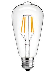 cheap -HRY 1pc 4 W LED Filament Bulbs 360 lm E26 / E27 ST64 4 LED Beads COB Decorative Warm White Cold White 220-240 V / RoHS