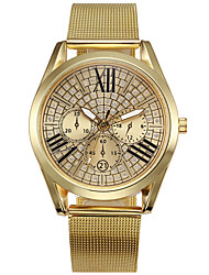 cheap -Couple's Wrist Watch Quartz Stainless Steel Gold Chronograph Casual Watch Analog Bangle Minimalist - Gold One Year Battery Life