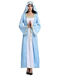 cheap -Arabian Costume Women's Adults Highschool Halloween Halloween Carnival Masquerade Festival / Holiday Polyster Outfits Ink Blue Solid Colored Halloween