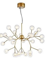 cheap -27-Light 75 cm Creative Chandelier Metal Glass Sputnik Painted Finishes Artistic Globe 110-120V 220-240V