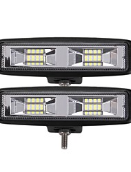 cheap -OTOLAMPARA 2 Pieces Most Popular 24W 2400LM 3030 16SMD 6000K LED Work Light Bar