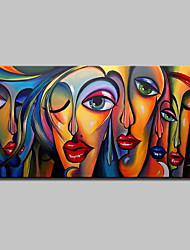 cheap -Mintura® Large Size Hand Painted Abstract Sexy Girl Oil Painting On Canvas Modern Wall Art Picture For Home Decoration No Frame Rolled Without Frame