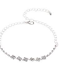 abordables -Chaînes Bracelets Femme Chaîne unique Mini Mode Le style mignon Bracelet Bijoux Argent pour Vacances Festival