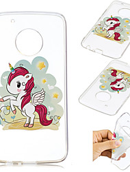 cheap -Case For Motorola Moto G5 Plus Pattern Back Cover Unicorn Soft TPU