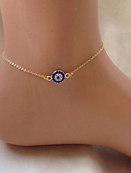 cheap -Ankle Bracelet feet jewelry Dainty Ladies Bohemian Women's Body Jewelry For Street Going out Single Strand Crystal Alloy Eyes Cheap Gold Silver 1pc / Cubic Zirconia