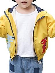 cheap -Kids Boys' Basic Print Long Sleeve Cotton Suit & Blazer Orange