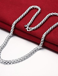 cheap -Men's Chain Necklace Single Strand Mariner Chain Simple Basic Fashion Copper Silver Plated Silver 50 cm Necklace Jewelry 1pc For Daily Work