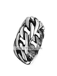 cheap -Men's Band Ring 1pc Silver Tungsten Steel Steel Stainless Circle Vintage Punk Initial Daily Work Jewelry Thick Chain Cool