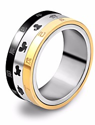 cheap -Men's Band Ring Multi Finger Ring 1pc Gold / Black Steel Stainless Round Stylish Unique Design Hip-Hop Street Going out Jewelry Stylish Animal Cool