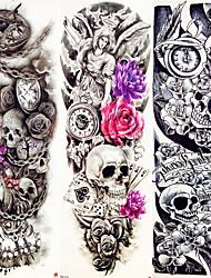 cheap -decal-style-temporary-tattoos-arm-leg-temporary-tattoos-3-pcs-animal-series-flower-series-smooth-sticker-eco-friendly-disposable-body-arts-halloween