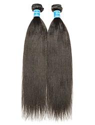 Недорогие -2 Связки Естественные прямые Не подвергавшиеся окрашиванию Человека ткет Волосы 8-28 дюймовый Нейтральный Ткет человеческих волос Лучшее качество 100% девственница Расширения человеческих волос / 10A
