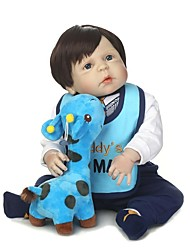 cheap -NPKCOLLECTION NPK DOLL Reborn Doll Baby Boy 24 inch Full Body Silicone Vinyl - Newborn Gift Artificial Implantation Blue Eyes Kid's Boys' / Girls' Toy Gift
