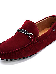 cheap -Men's Loafers & Slip-Ons Suede Shoes Moccasin Daily Office & Career Suede Cowhide Black Yellow Red Fall