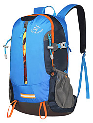 cheap -40 L Hiking Backpack Breathable Outdoor Hiking Camping Travel Black Green / Yes