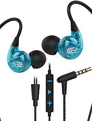 abordables -LITBest SP90 Eeadphone filaire intra-auriculaire Câblé Avec Microphone Avec contrôle du volume Téléphone portable