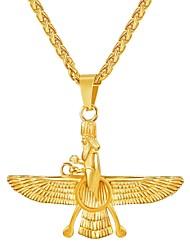 Недорогие -Муж. Ожерелья с подвесками Длиные Цепь Foxtail Мода Нержавеющая сталь Золотой Черный Серебряный 55 cm Ожерелье Бижутерия 1шт Назначение Подарок Повседневные