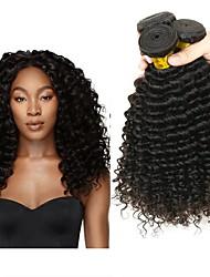 cheap -3 Bundles Peruvian Hair Deep Wave Human Hair Natural Color Hair Weaves / Hair Bulk One Pack Solution Human Hair Extensions 8-28 inch Natural Color Human Hair Weaves Creative Best Quality Hot Sale