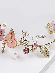 cheap -Rhinestone / Alloy Head Chain with Floral 1 Piece Wedding / Special Occasion Headpiece