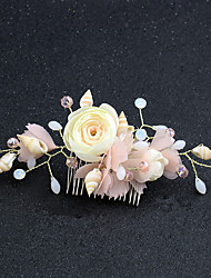 cheap -Resin Hair Combs / Hair Accessory with Starfish and Seashell / Floral 1pc Wedding / Masquerade Headpiece