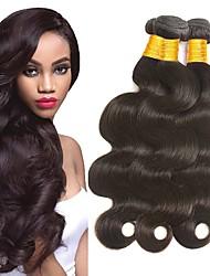 cheap -4 Bundles Indian Hair Body Wave Remy Human Hair Headpiece Natural Color Hair Weaves / Hair Bulk Extension 8-28inch Natural Color Human Hair Weaves Newborn Waterfall Mini Human Hair Extensions